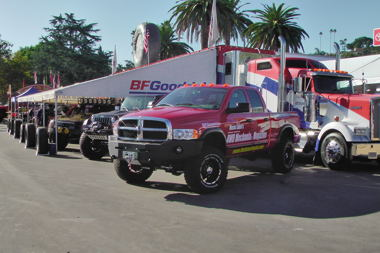 Made over Dodge Ram earns a guest spot at 2011 Off-Road Expo's B.F. Goodrich display!