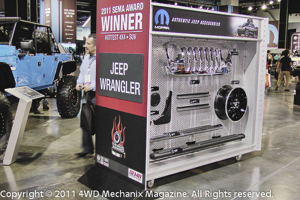 Jeep Accessories at the 2011 SEMA Show, Las Vegas, Nevada!