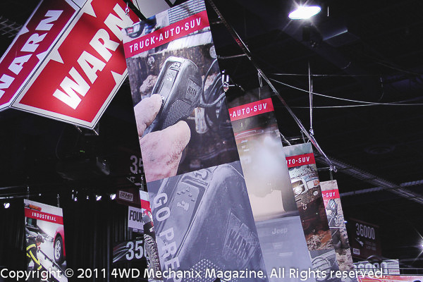 Warn Industries was a major presence at the 2011 SEMA Show, Las Vegas, Nevada!