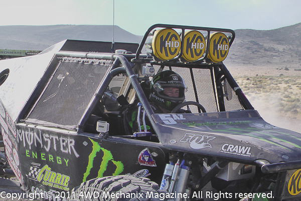 Shannon Campbell staged at the number one starting position for the 2011 Stampede Ultra4 Race near Reno, Nevada.