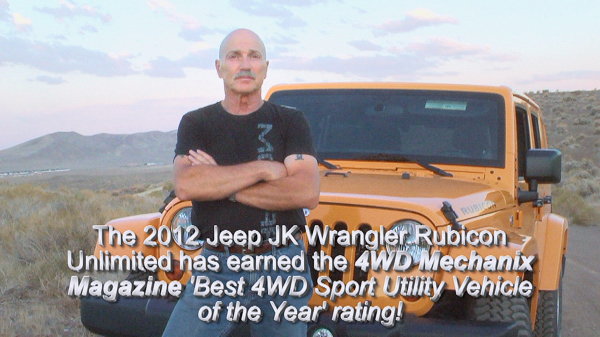 Moses Ludel with the 4WD Mechanix Magazine 'Best 4WD Sport Utility Vehicle of the Year' winner