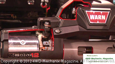 Warn Zeon winch at SEMA Show