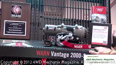 Warn's SEMA Award for OHV winch series