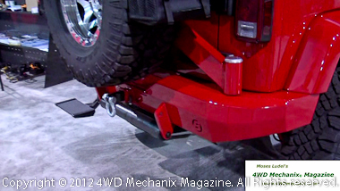 Bestop bumper and spare tire carrier for Jeep JK Wrangler