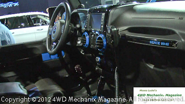 Interior of Jeep Wrangler Apache concept vehicle