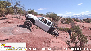 Toyota truck on the rocks during 2013 Warn Moab Media Run