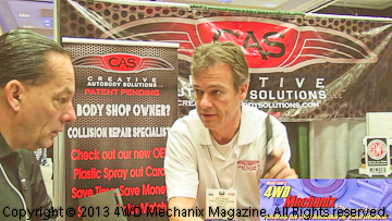 Creative Autobody Solutions booth at the 2013 SEMA Show
