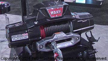 Warn ZEON Platinum winch launched at 2014 SEMA Show!