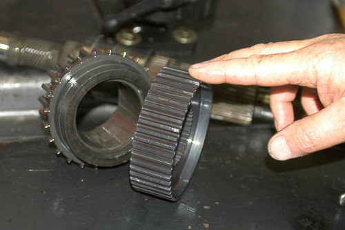 Mode hub and drive sprocket removed from output shaft.