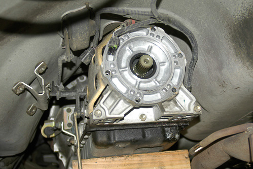 Output end of the AW-4 automatic transmission.