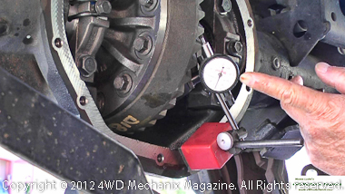 Get tips about ring gear backlash and dial indicator
