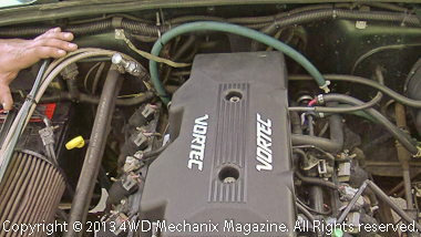 Smog legal 5.3L LS V-8 in Jeep TJ Wrangler at Advance Adapters
