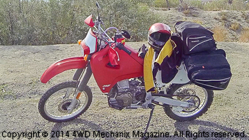 Honda XR650R with Acerbis 6.3 gallon Sahara fuel tank!