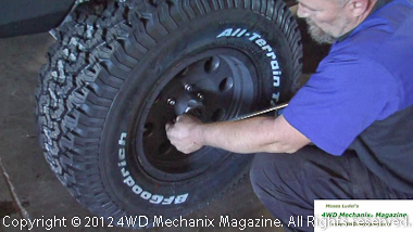 Use a torque wrench for final wheel nut tightening
