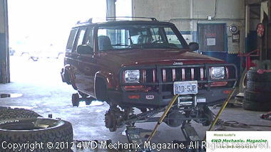 The magazine's 1999 XJ Cherokee 4x4 has a six-inch long arm lift and 33