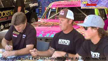 Rob MacCachren, Bryce Menzies and Rickie Johnson BFG off-road drivers