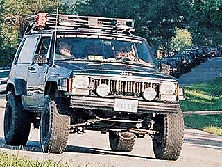 XJ Cherokee equipped for the trail and highway!