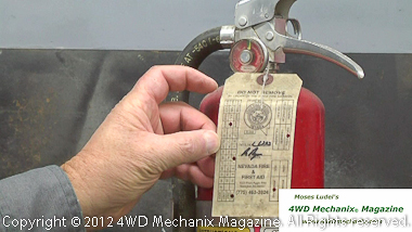 Old fire suppression equipment and required inspection