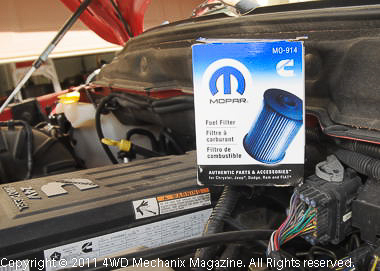 Mopar is our source for a quality replacement fuel filter.