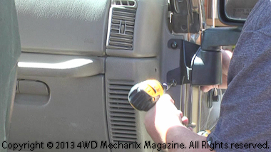 Mounting passenger side mirror