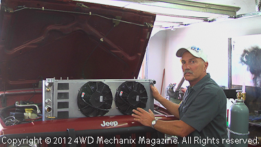 Moses Ludel describes features of a prototype Griffin radiator for the Jeep XJ Cherokee!