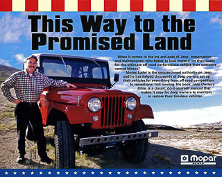 Moses Ludel and Mopar Camp Jeep Flyer: 1955 CJ-5 featured in the Jeep CJ Rebuilder's Manual: 1946-71.