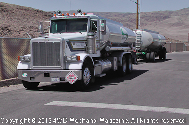 GDiesel transport truck at the Nevada refining facility, click here to see the HD video!