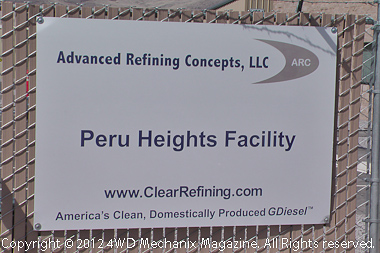 Peru Plant for GDiesel at McCarran, Nevada east of Reno/Sparks