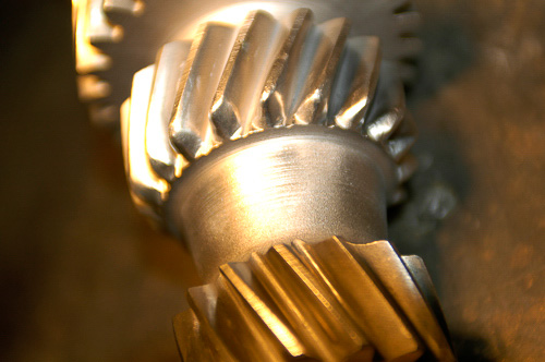Gear repaired by Moses Ludel using heat treating, TIG welding and machining processes