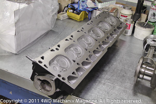4.0L Jeep inline six cylinder head after rebuild