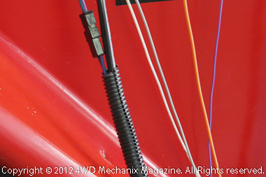 MSD wires are in durable harnesses or color coded for easy identification.