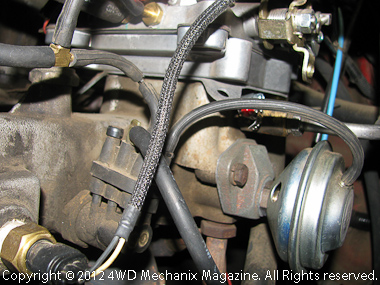 Stock Jeep YJ Wrangler 4.2L six with EGR