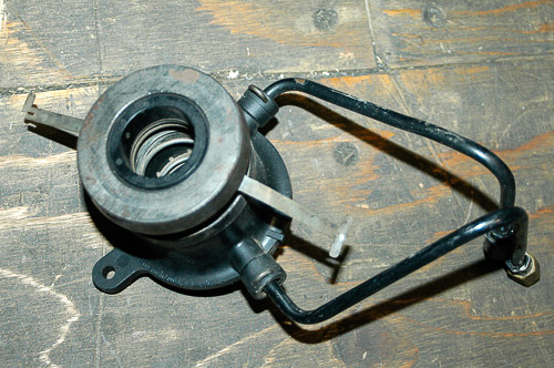 Jeep Wrangler internal hydraulic clutch release mechanism.