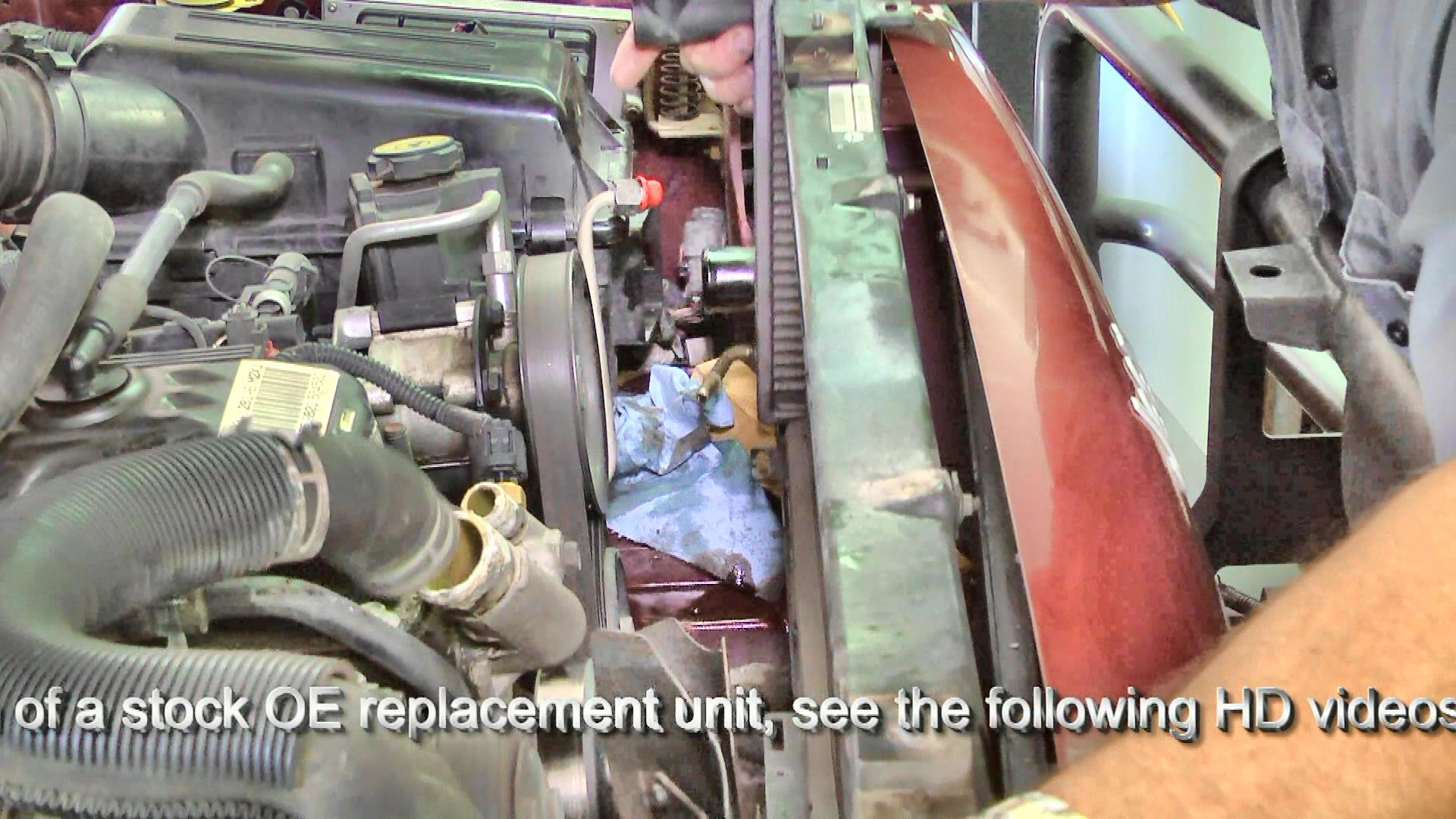 Jeep XJ Cherokee radiator removal from the engine bay
