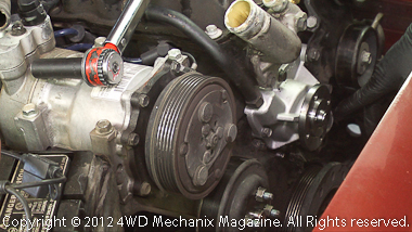 Water pump and serpentine belt replacement for Jeep 4.0L inline six