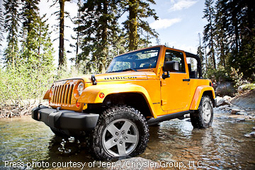 New 2012 JK Wrangler press photo from the Rubicon Trail