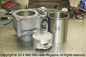 L.A. Sleeve cylinder liner and rebuilt head assembly