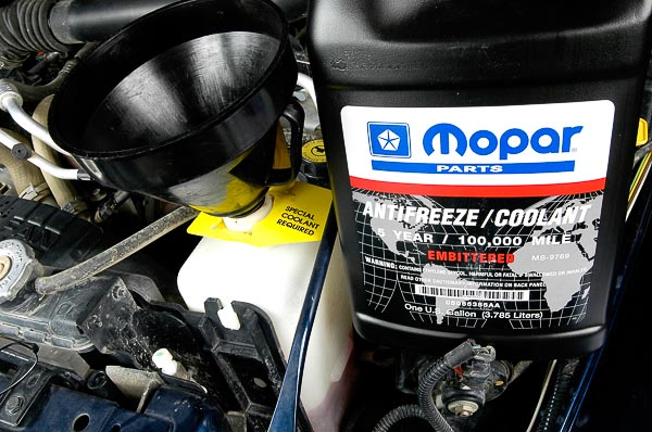 Long-life Mopar anti-freeze.