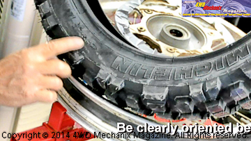 Michelin motorcycle tire directional mounting design