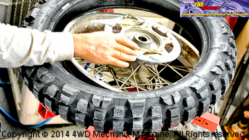 Mounting a Michelin T63 motorcycle tire