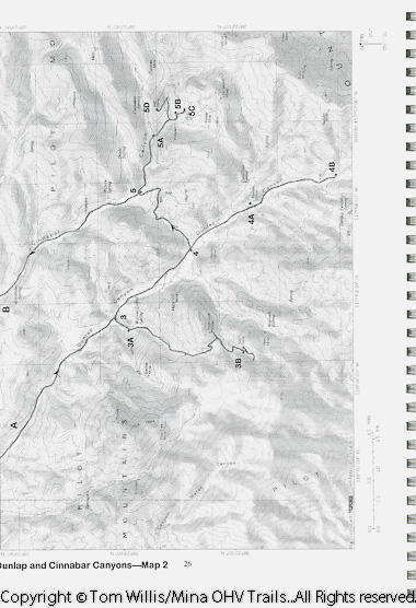 Topo maps make Mina OHV Trails a valuable resource.