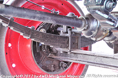 Driveshafts come from the transmission