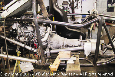 Profile of Duramax V-8 with 4L80E transmission and Atlas transfer case