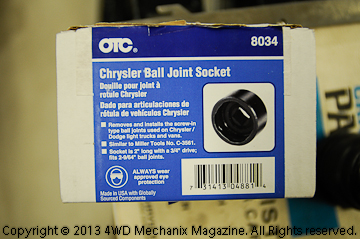 OTC 8034 Chrysler ball joint tool