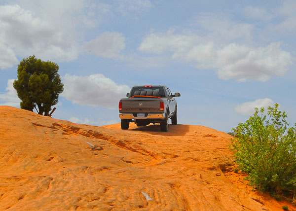 2011 Ram Power Wagon scales Poison Spider Mesa at Moab!