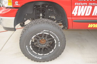 The need for a suspension lift centers around the use of oversized tires.