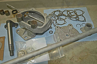 Ross cam-and-lever gear during a restoration