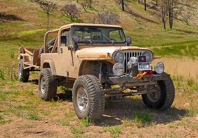 Rubicon Tested CJ-8 Scrambler with Trailer