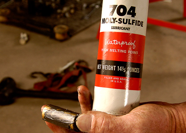 High-moly grease for urethane bushings.