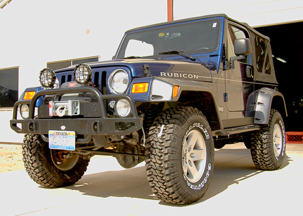 Completed suspension lift on '04 TJ Wrangler Rubicon.